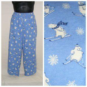 MUNKI MUNKI Lounge Pants, XXL, Skiing Polar Bears